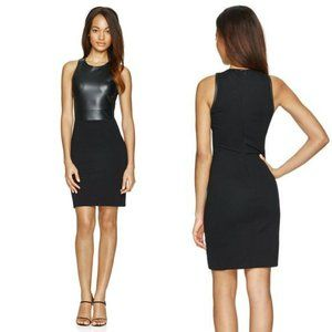 Wilfred Free Elin Faux Leather Panel Front Dress